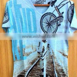 unisex custom printing combed cotton t shirt ow , all over sublimation printing t-shirt ow