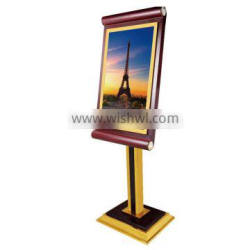 stand advertisement display boards wooden frame