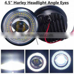4.5 inch Harley LED Auxiliary Lights fog light Led Headlight With Angle Ayes / Auto DRL / Halo Fits Harley Davidso-n Motorcycles Supplier's Choice
