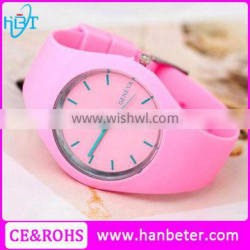 2015 ladies fashion watches japan movement silicone rubber watch with changeable straps