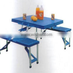 2015 hot sales ABS plastic folding picnic table