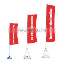 Plastic water injection flag stand with high quality