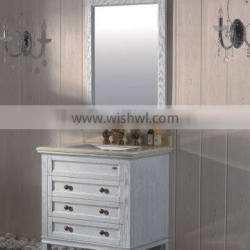 modern style soild wood with flower wash cabinet and ceramics top basin
