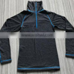 Mens wool base layer,wool polyester terry cloth thermal underwear
