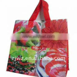 full color printed pp woven bag for shopping