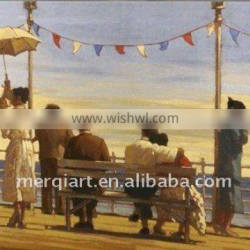 Jack Vettriano the pier Oil Painting