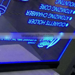 led light box logo sign double sides visible display board, Hanging advertising lightbox frame