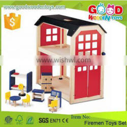 Hot Sale And Popular Items 2 Floors Firemen Toy Set DIY Wooden Intelligent Toy for Kids Quality Choice
