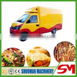 Stainless steel waterproof and low noise truck to sell food