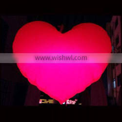 Width 1.5m LED Inflatable red heart balloon for Valentine's day decoration
