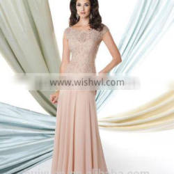 champagne lace cap sleeve chiffon one piece dresses for fat girls
