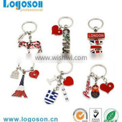 Top quality custom souvenir manufacturers in china keychain gift