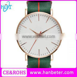 Nylon strap rose gold case valentine brand watches with changeable strap