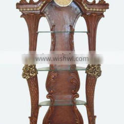 wood effect cigarette display cabinet and showcase for shop