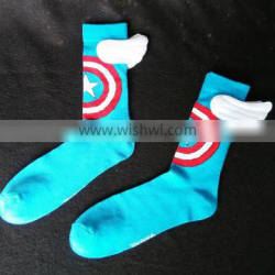 shield symbol with wing sock
