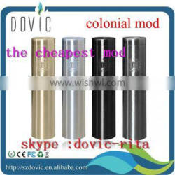 Best quality e cig mod aluminum colonial mod / colonial mod top selling