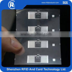 EPC Class 1 Gen 2 ISO-18000-6C 9620 UHF RFID tag DRY /Wet INLAY