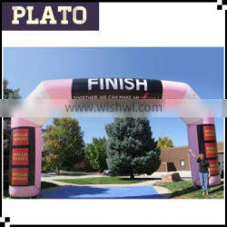 Fluorescence inflatable square archway, Finish race archway gate