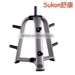SK-638 Commercial gym equipment weight plate tree vertical plate rack