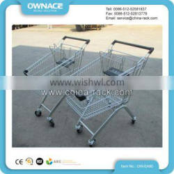 High quality metal supermarket foldable shopping trolley