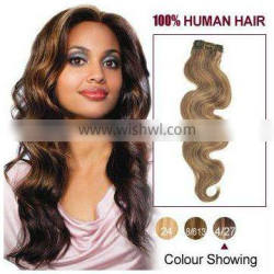 Wavy Two Tone Brazilian Remy Hair Weave Extensions for Wholesale