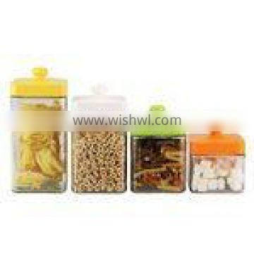 4 pc glass canister