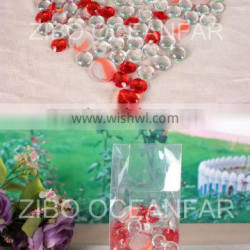 Frosted glass marbles with red acrylic beads,home decoration,gift