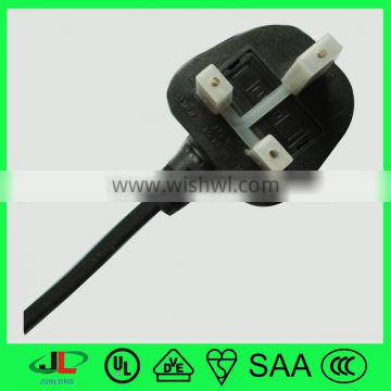 cheap price British approval 3 pin electric power plug with 13a fused UK assembly power cord for computer