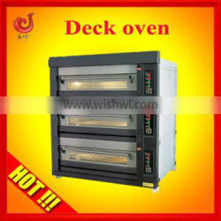 three layers deck oven gas restaurant french bread oven
