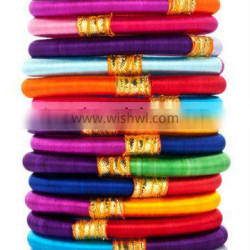 2 color Silk Thread Bangles For Wholesales
