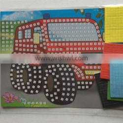 New style puzzle mosaic sticker for cartoon cars