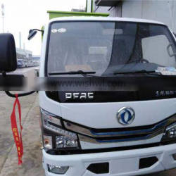 Dongfeng small dolly card 5 square barrel type garbage truck