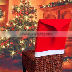 Christmas Santa Hat Bands Red Nonwovens Chair Cover