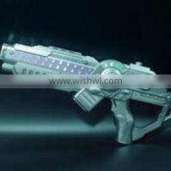 Flashing LED Space Pistol Blaster Gun Light up with Firing Sound Effect Kids Toy with Holster
