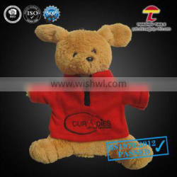 animal hot water bag with cover red T-shirt little bear