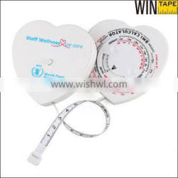 corporate gifts 2016 specialty advertising items heart shape body bmi tape measure Quality Choice