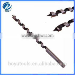 High performance auger hex shank drill bit for wood