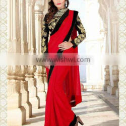 ETHNIC Bridal Exclusive Saree New Designer Indian Bollywood Embroidere...R4431
