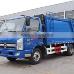 wheelbase 3300 KAMA small compactor garbage truck for sale