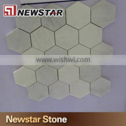 Chinese natural marble hexagon mosaic tile