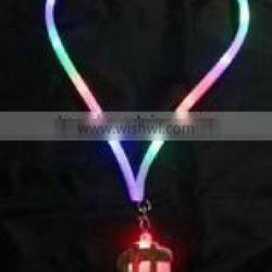 LED Flashing Dollar Necklace with Plastic Lanyard light up toys for children