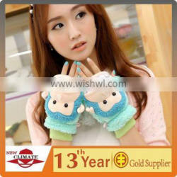new design useful colorful warm soft women animal gloves