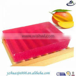 handmade soap made with fruit