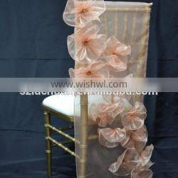Customized Style Fancy Organza Chair Covers Wedding Decoration