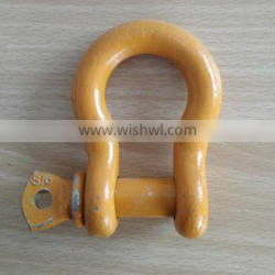 Most Durable high strength steel bow shackles with colors