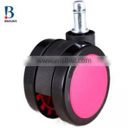 shenzhen colorful 60mm pink nylon non-trace swivel double furniture casters