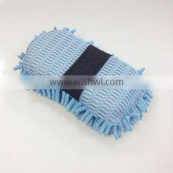 polyester polyamide microfiber chenille noodle vehicle best car wash sponge with hand band