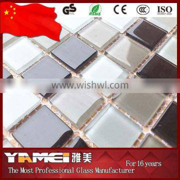 factory price glitter crystal glass mosaic tile
