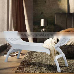 Wood Bench Mumbai with White Painted Colour