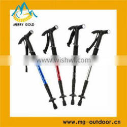2014 High Quality and New Design 4-section LED Walking Pole